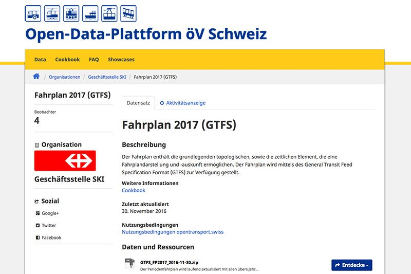 © Open-Data-Plattform öV Schweiz