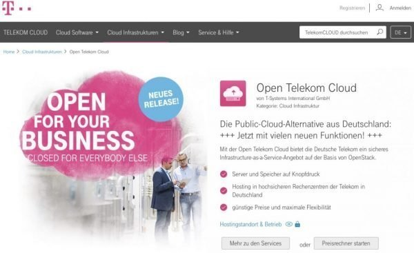 Die Open Telekom Cloud baut ihre Business-Apps aus