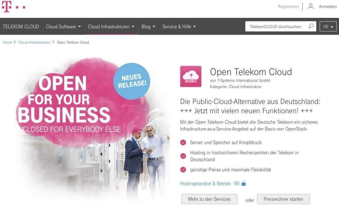 Cloud ComputingDie Open Telekom Cloud baut ihre Business-Apps aus