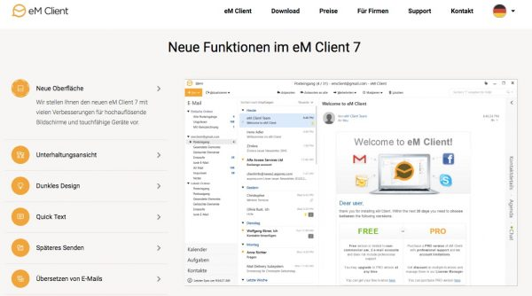 eM Client 7.1 sendet automatisch PGP-verschlüsselt