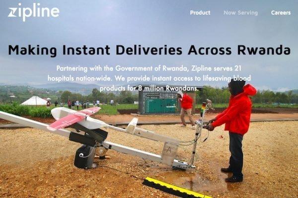 In Ruanda fliegen die Blutkonserven zum Krankenhaus