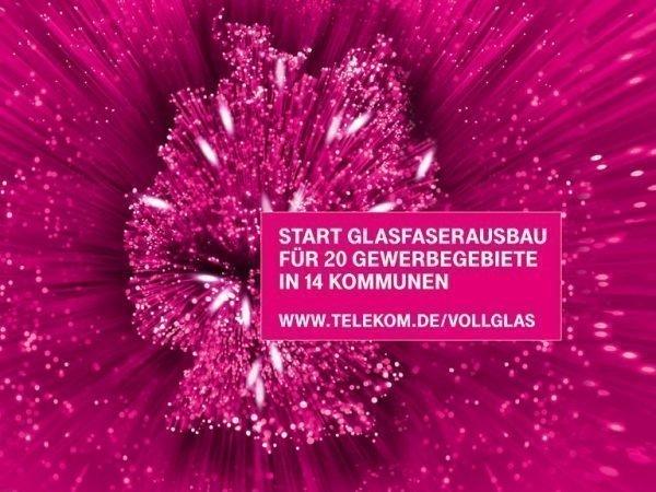 Die Telekom beginnt den Glasfasernetzausbau für 20 Gewerbegebiete