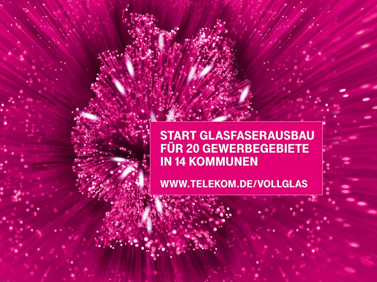 Next Generation AccessDie Telekom beginnt den Glasfasernetzausbau für 20 Gewerbegebiete