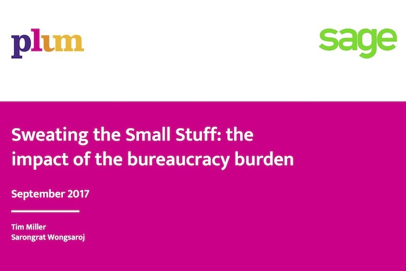 Plum: Sweating the Small Stuff: the impact of the bureaucracy burden