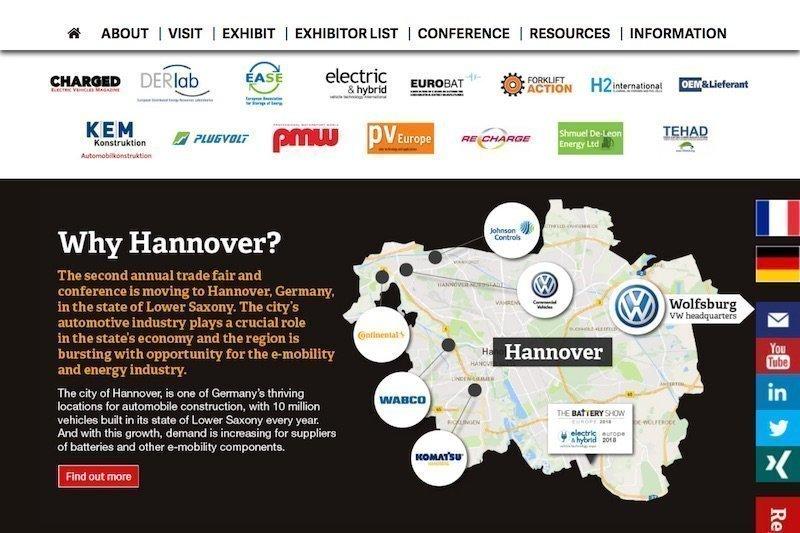 BatterietechnikIn diesem Frühjahr ist Hannover Ladestation für E-Mobility-Ideen