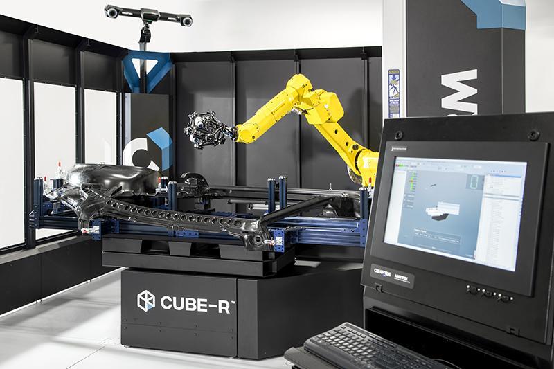 QualitätskontrolleCube-R kommt als einsatzfertige automatische 3D-Messzelle