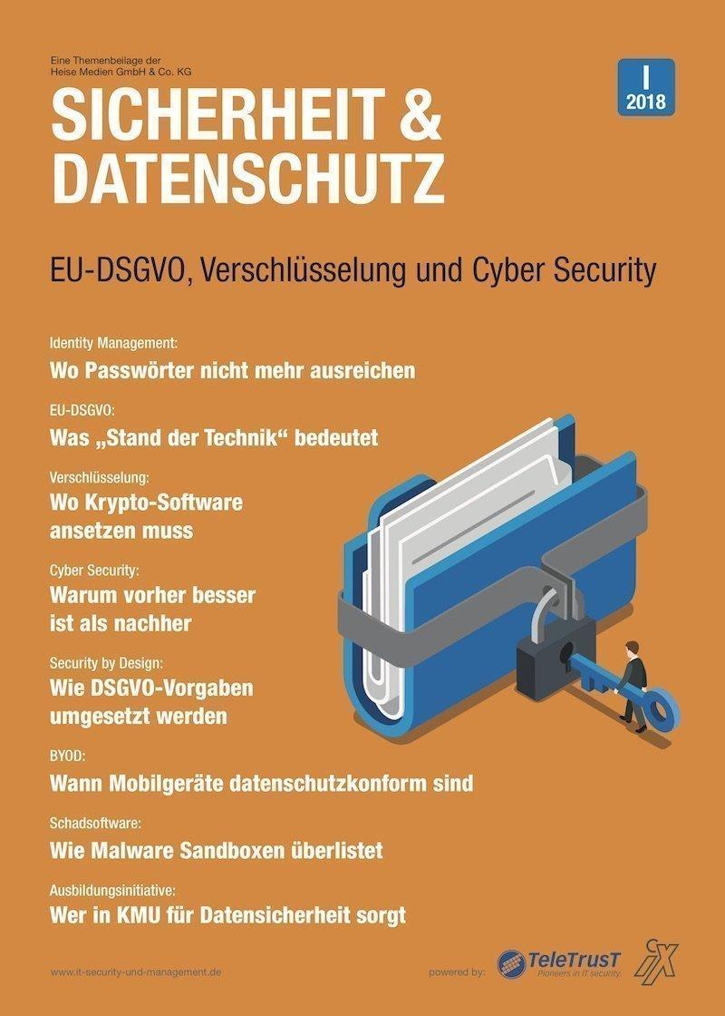 Sicherheit und DatenschutzHeise-Themenbeilage klärt DSGVO-Sicherheitsfragen