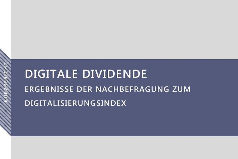 Digitale DividendeDer digitale Wandel beginnt, sich bezahlt zu machen