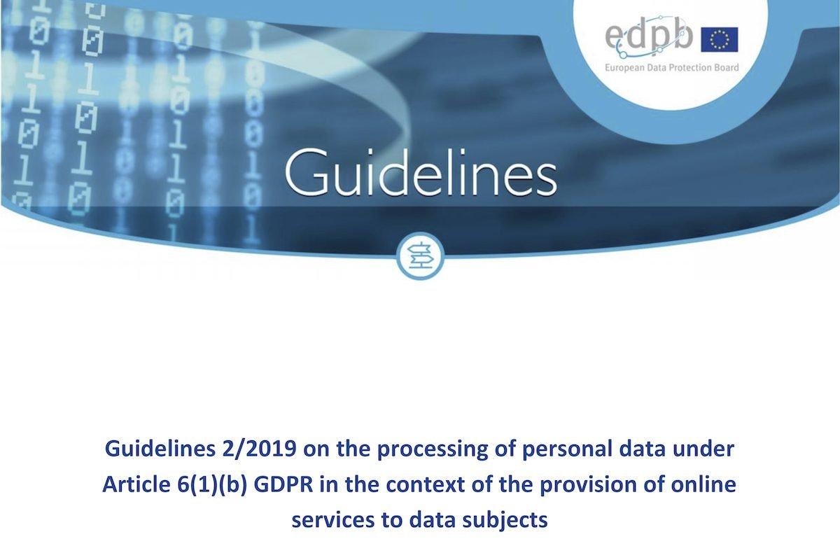 DatenschutzEDSA-Leitlinien helfen Online-Diensten bei der DSGVO-Auslegung