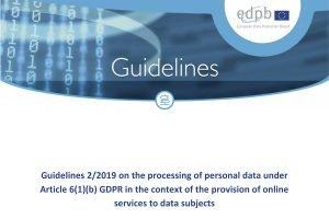 EDSA-Leitlinien helfen Online-Diensten bei der DSGVO-Auslegung