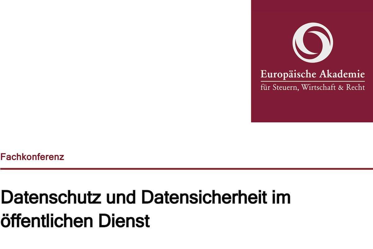 EU-DSGVOBerliner Fachkonferenz diskutiert Datenschutz im öffentlichen Dienst