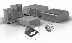 Modulares System ermöglicht individuelle Erstellung von Edelstahlgehäusen