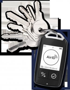 Drahtlose Smartcard am Schlüsselbund sichert mobile Geräte ab