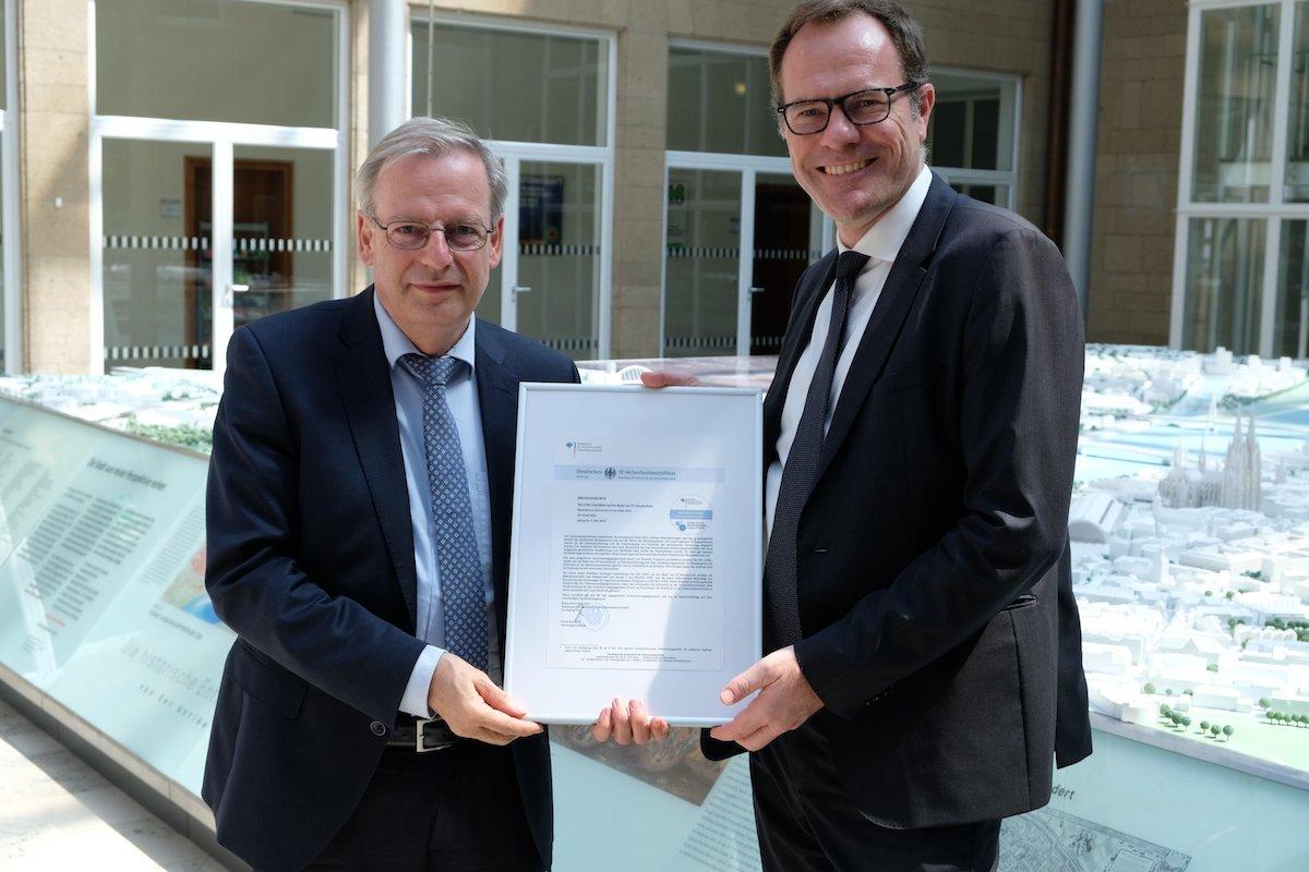 InformationssicherheitKöln hat das ISO-27001-Audit bestanden
