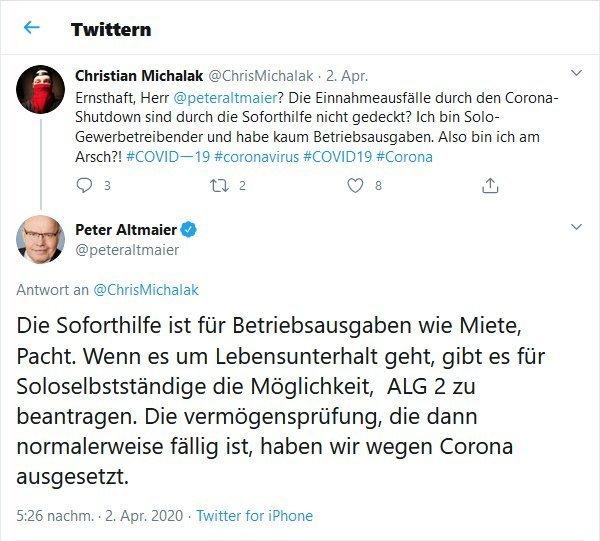Twitter / Peter Altmaier