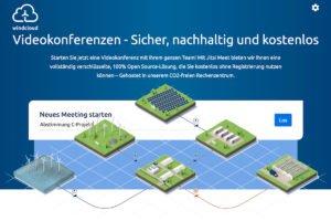 Windcloud spendiert CO₂-neutrale Jitsi-Meet-Treffen