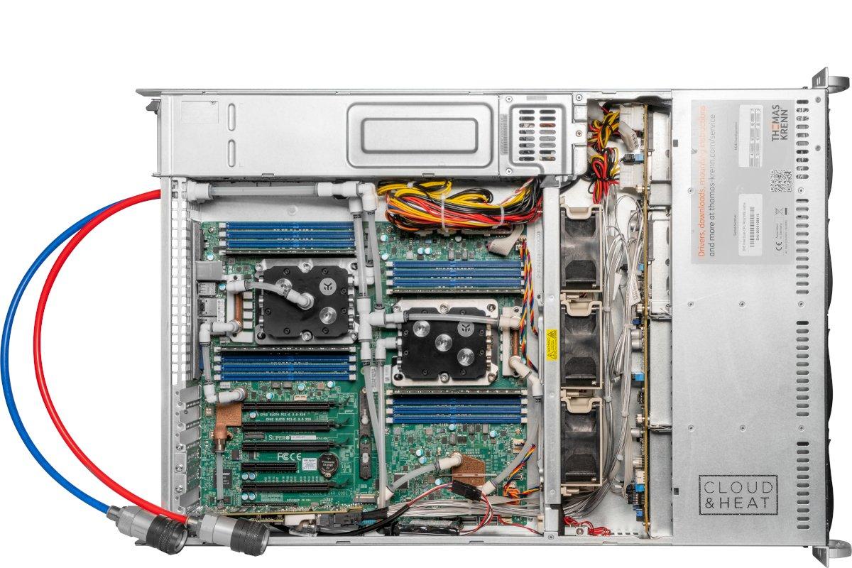 RZ-AbwärmenutzungThomas-Krenn und Cloud&Heat bauen Heißwasser-Server