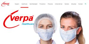 Verpa Folie produziert Mund-Nasen-Schutzmasken in Hochhygiene-Qualität