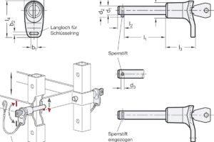 Ganter ermöglicht einfach abschließbare Steckbolzen