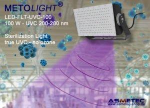 Asmetec stellt neuen UVC-Strahler für die Luft- und Oberflächendesinfektion vor