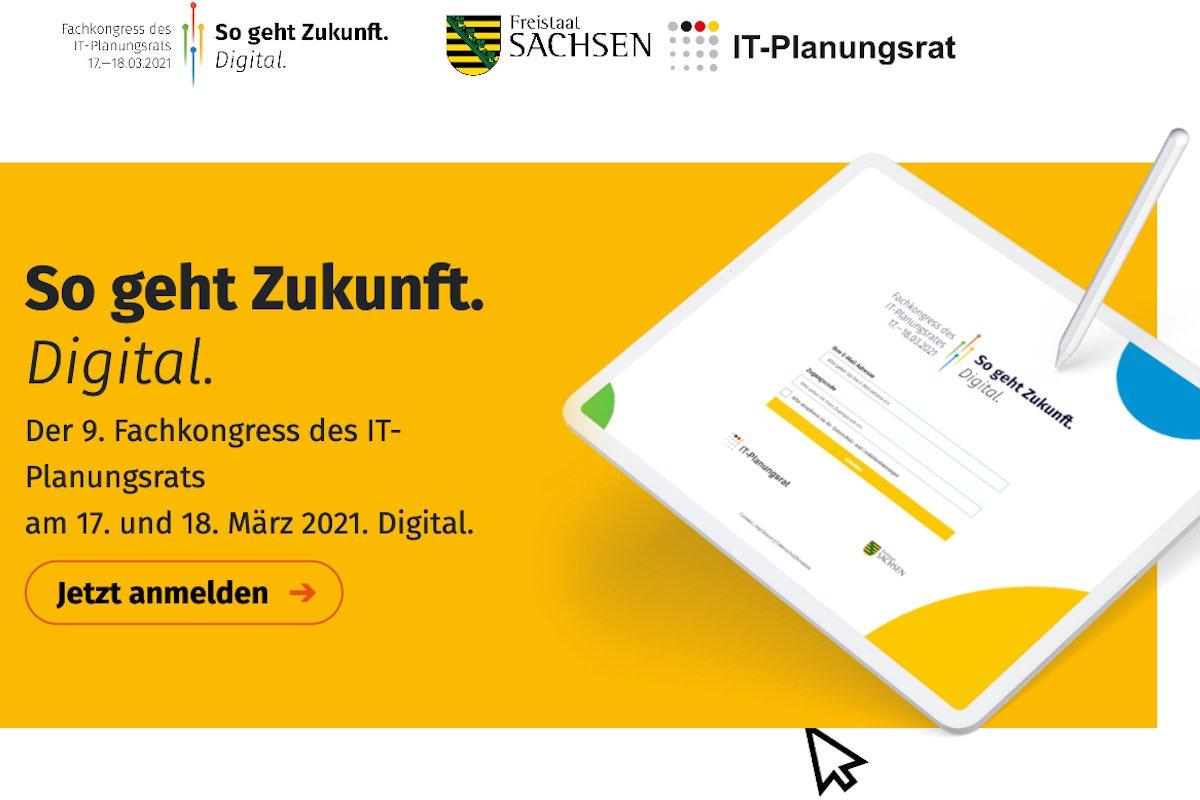 IT-PlanungsratSachsen richtet den Fachkongress 2021 virtuell aus