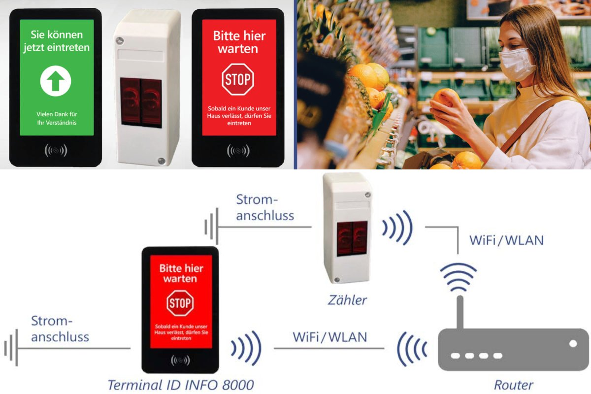 ID Shop MasterWLAN-Personenzähler gibt den Zutritt per Ampel frei