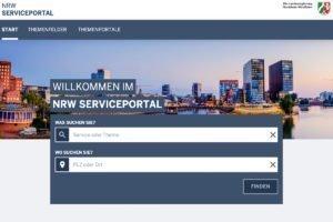 Das Serviceportal.NRW startet mit ersten Leistungen